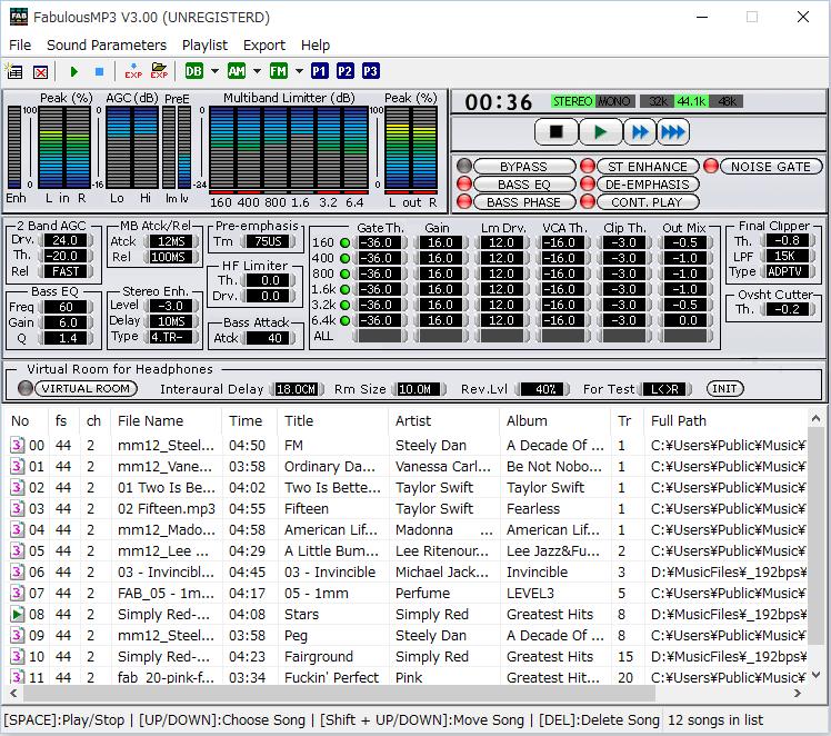 FabulousMP3 full screenshot